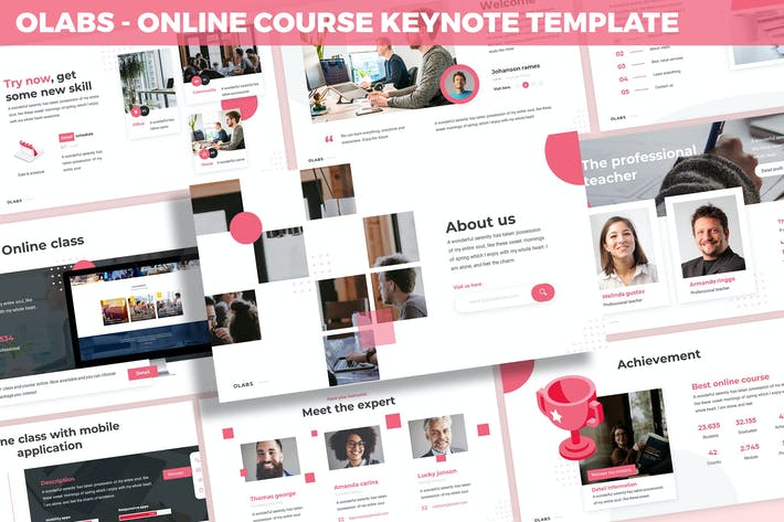 Thumbnail for Olabs - Online Course Keynote Template