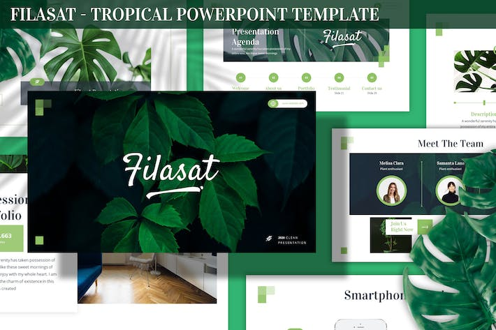 Thumbnail for Filasat - Tropical Powerpoint Template