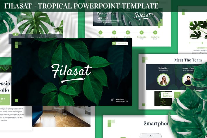 Filasat - Тропический Шаблон Powerpoint
