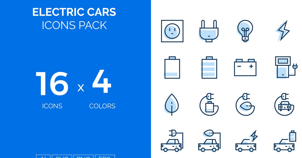 Download Electric cars icons pack by fruitfulcode