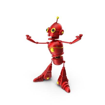 Cartoon-Roboter glücklich