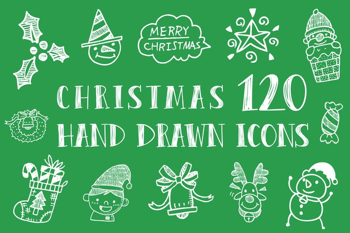 Cover Image For Christmas Hand Drawn Icons