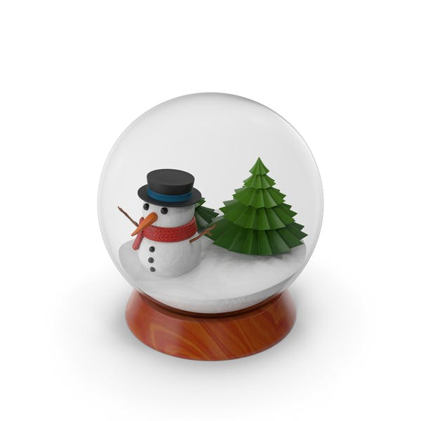 Thumbnail for Cartoon Snow Globe