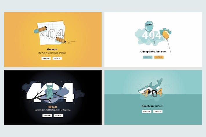 Thumbnail for Jeu de dessins plats pour page d'erreur 404