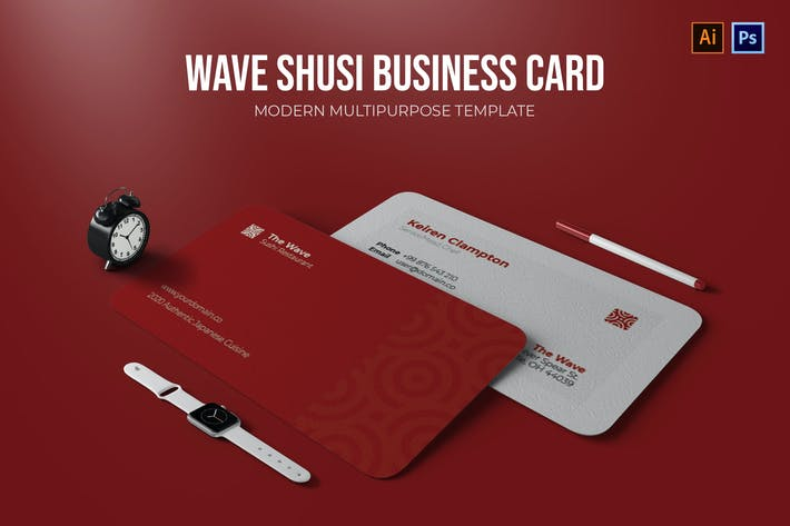 Thumbnail for Wave Sushi Resto - Business Card