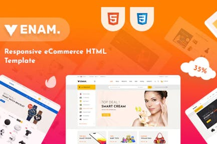 Venam - Mehrzweck-eCommerce-HTML-Vorlage