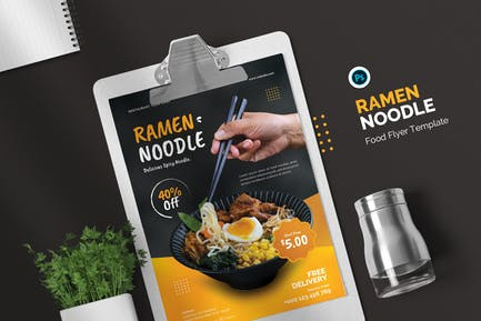 Ramen Noodle - Food Flyer Template
