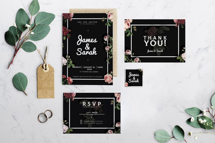 Thumbnail for Elegant Wedding Invitation