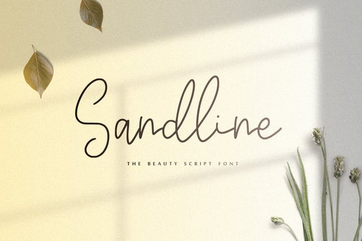 Thumbnail for Sandline - The Beauty Script Font