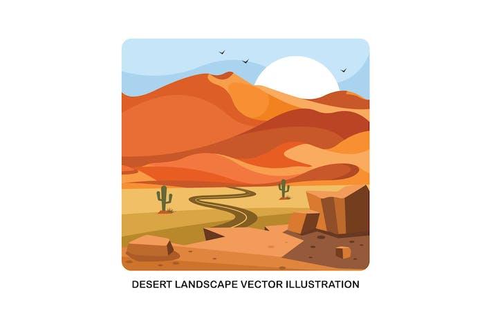 Thumbnail for Ilustración Vector Horizontal desierto