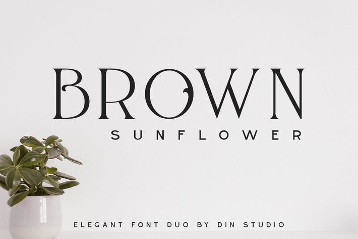 Brown Sunflower - Font Duo