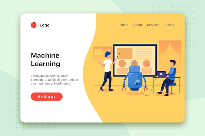 Thumbnail for Machine Learning AI Illustration - Website Header