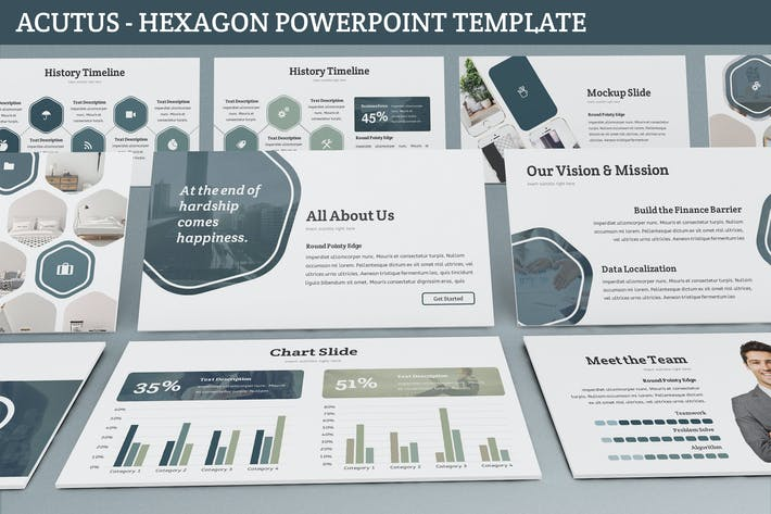 Thumbnail for Acutus - Hexagon Powerpoint Template