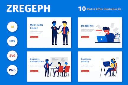 ZREGEPH - Work & Office Illustration Kit