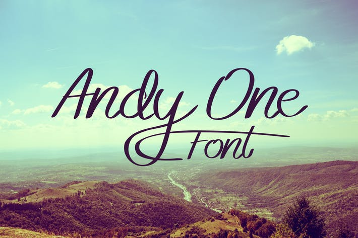 Thumbnail for Andy One Font