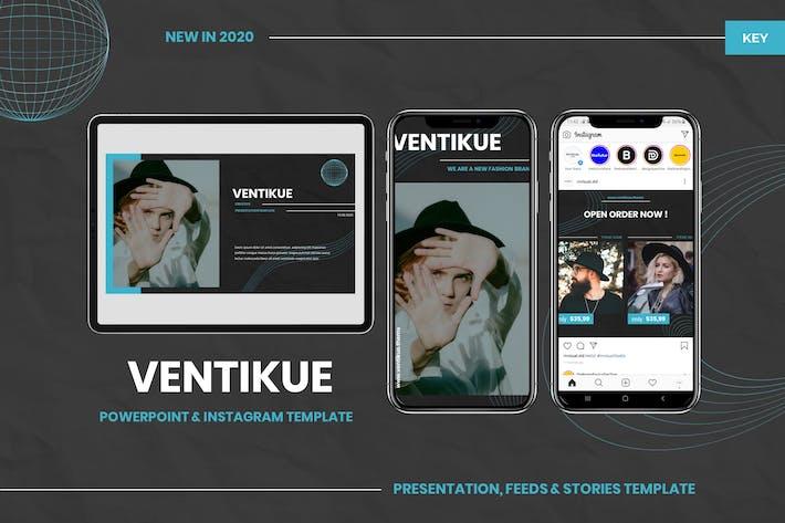 Thumbnail for Ventikue - Шаблон Keynote и Instagram