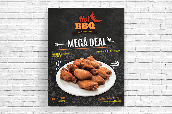 Thumbnail for Hot Barbecue Mega Deal Promotion Flyer