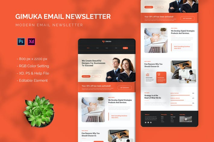 Gimuka - Email Newsletter