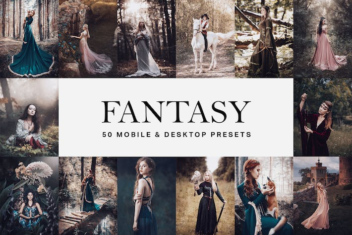 Thumbnail for 50 пресетов Fantasy Lightroom и LUT