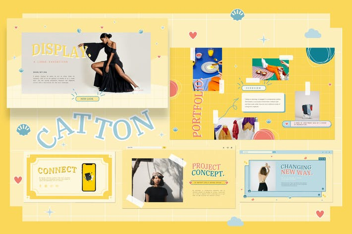 Thumbnail for Catton Cute Pastel Google Slide - JJ
