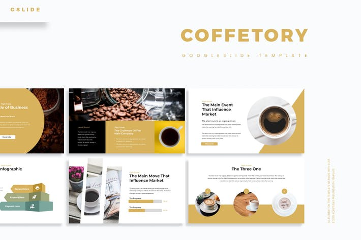 Thumbnail for Coffetory - Google Slides Template