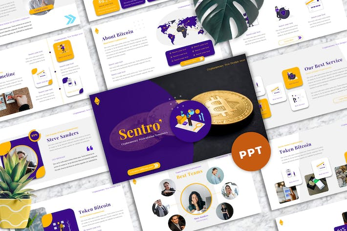 Sentro  - Cryptocurrency Powerpoint Templates