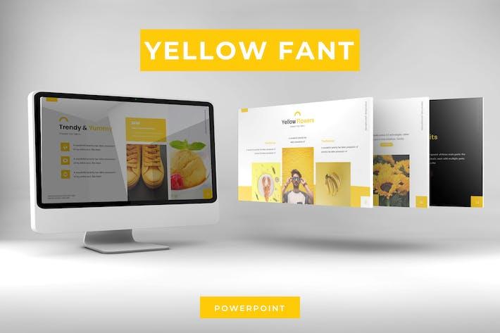Thumbnail for Желтая фантазия - Powerpoint Шаблон