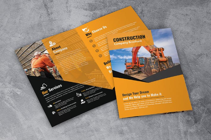 Cover Image For A4 Construction Bifold Brochure