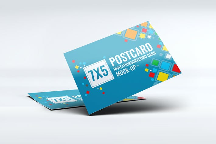 Cover Image For Postcard Invitation Greeting Card Mock-Up V3
