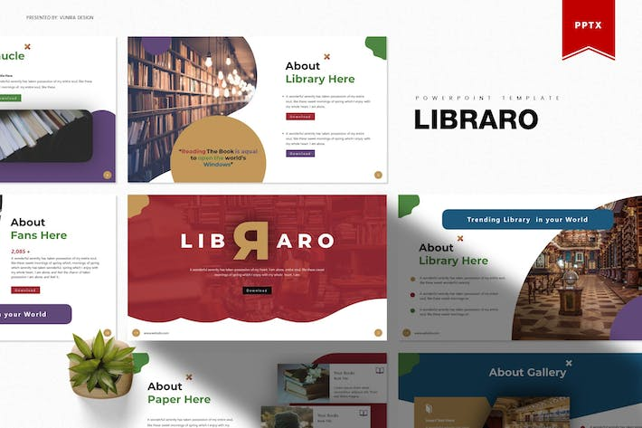 Thumbnail for Libraro | Powerpoint Template