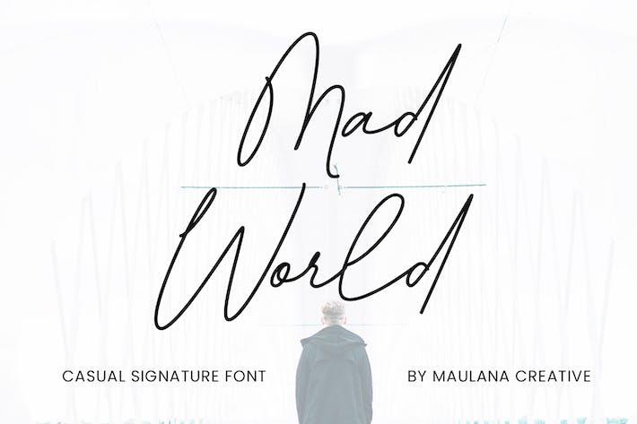 Thumbnail for Fuente de firma casual del mundo Mad World