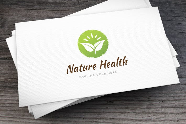 Thumbnail for Nature Health Logo Template