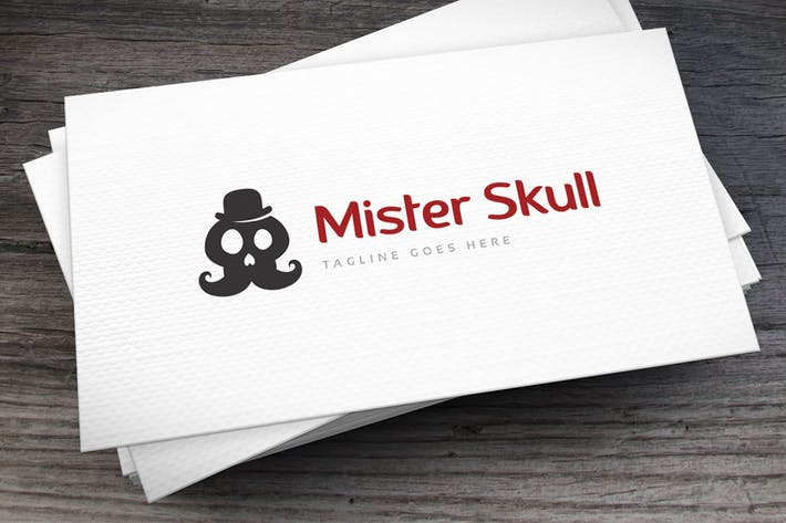 Thumbnail for Mister Skull Logo Template