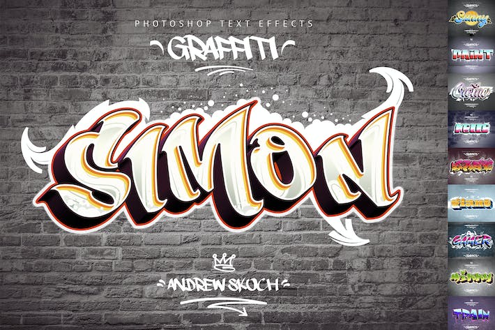 Thumbnail for Graffiti Text Effects - 10 PSD - vol.1