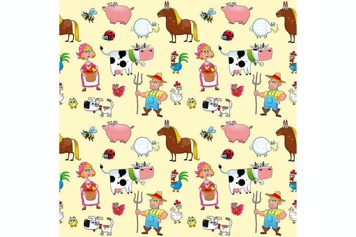 Thumbnail for Farm Animals with Background