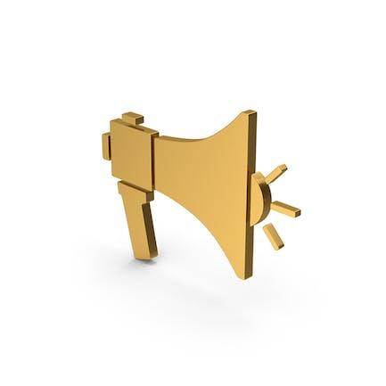 Symbol Megaphone Gold