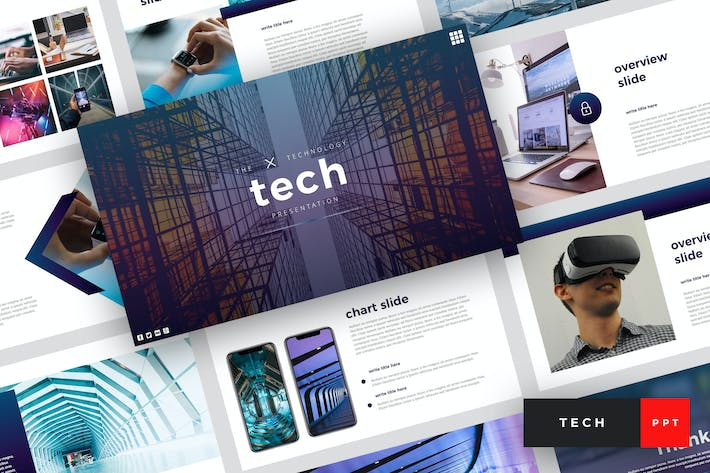 Thumbnail for Tech - Technology PowerPoint Template