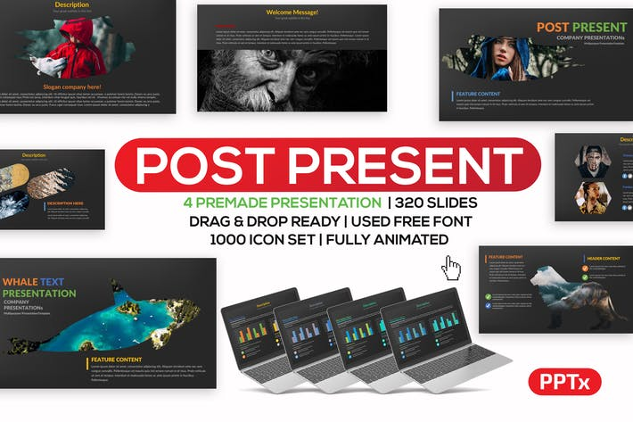 Thumbnail for Post Powerpoint Template
