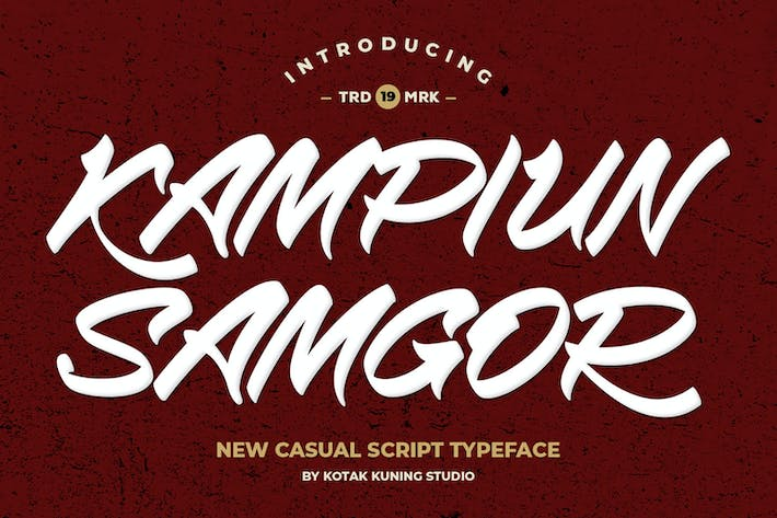 Thumbnail for Kampiun Samgor - Casual Display Font