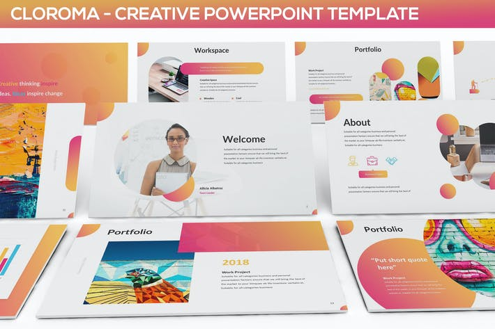 clorama creative presentation template by slidefactory on envato