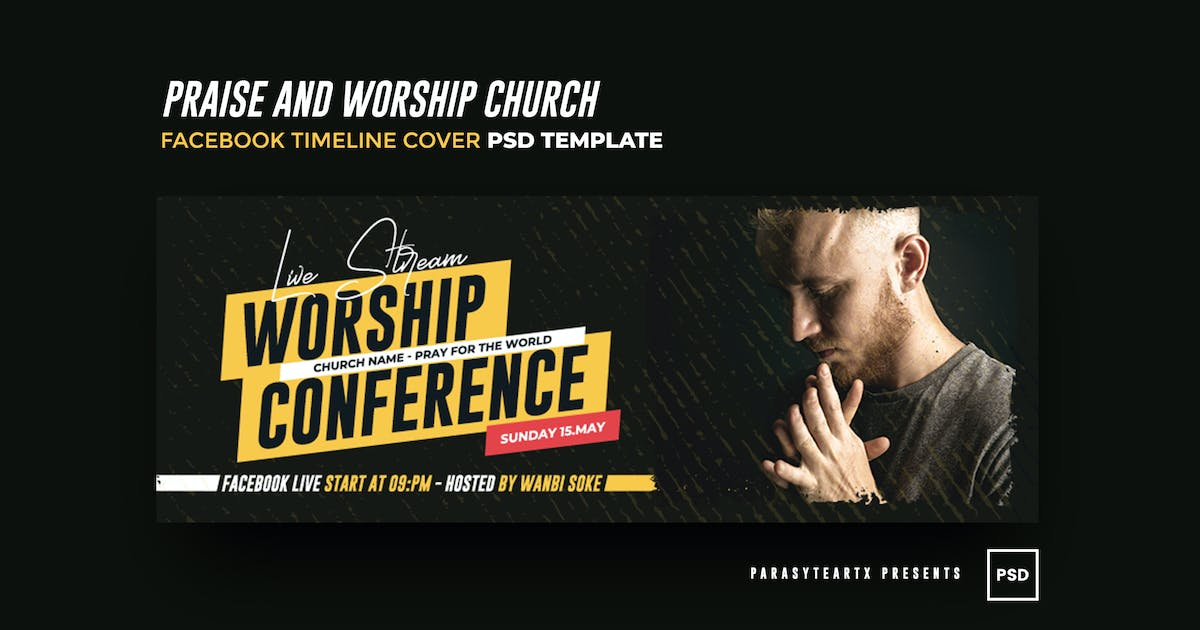 Download Praise and Worship Church Facebook Timeline Cover by parasyteartx