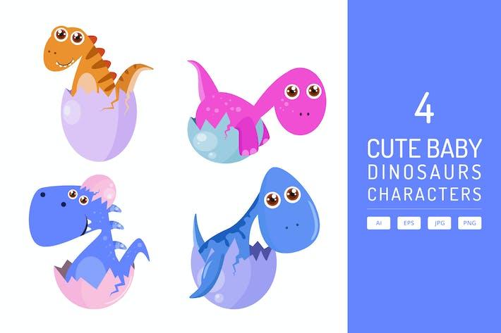 Thumbnail for Niedliches Dino Baby mit Eiern Luke Vol.2