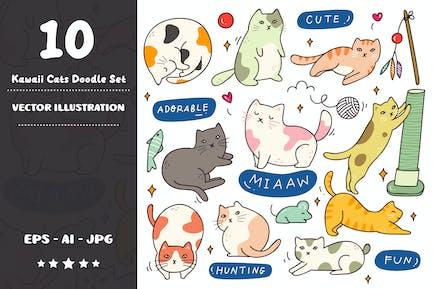 Ensemble Doodle Kawaii Cats