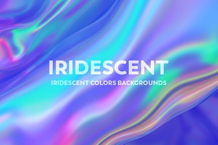 Iridescent Abstract Backgrounds  - V2