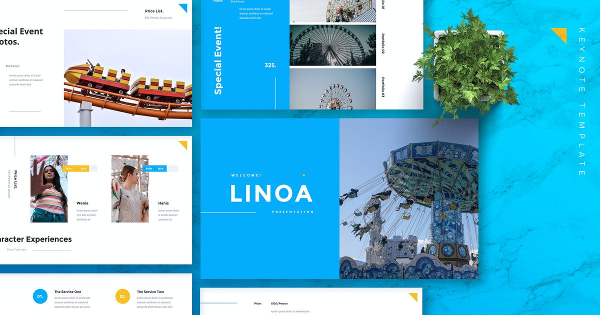 Download LINOA - Theme Park Keynote Template by RahardiCreative