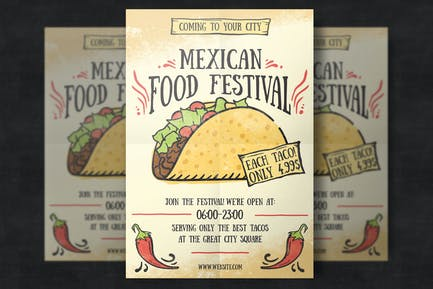 Mexican Food Flyer Template