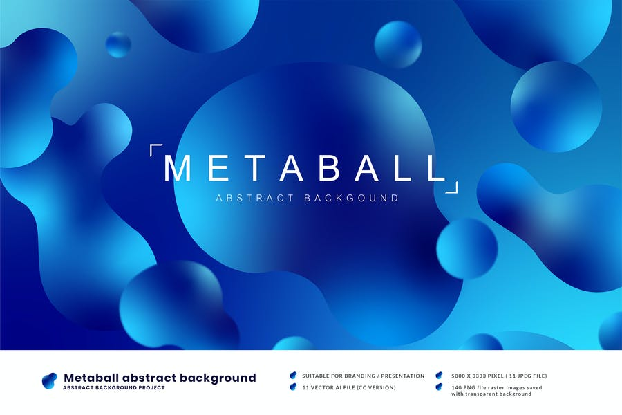Metaball abstract background