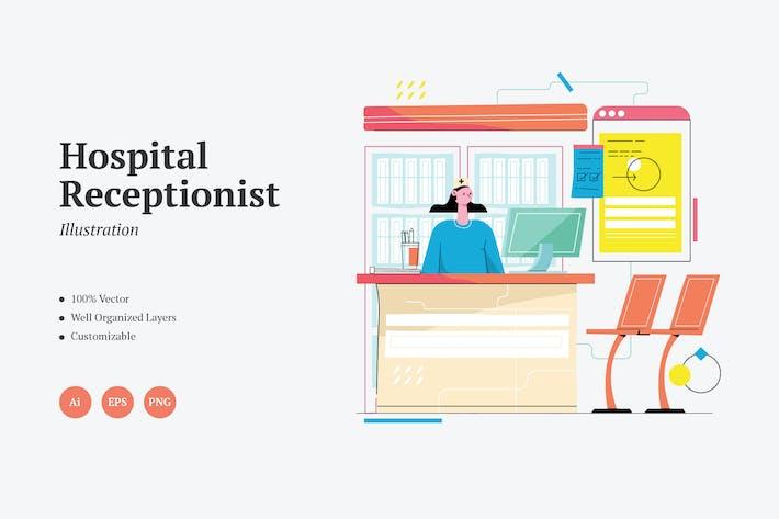Hospital Receptionist Graphics Illustration