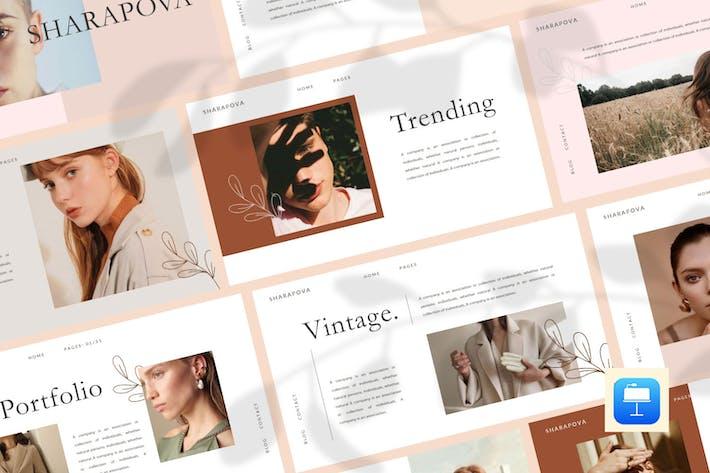 Thumbnail for Sharapova - Multipurpose Keynote Template
