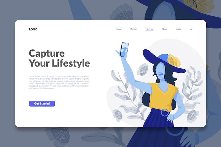 Thumbnail for Modern Illustration Landing Page Template